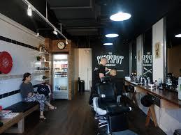 hasil gambar untuk retro industrial interior design barbershop