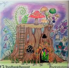 Floresta Encantada Tronco Johanna Basford Tree StumpsTree TrunksJohanna Coloring BookColoring