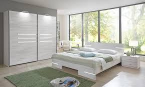 schlafzimmer set komplett 4 tlg weißeiche mit 225cm schwebetürenschrank 15846
