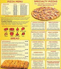 Hungry Howies Pizza Huntersville Menu