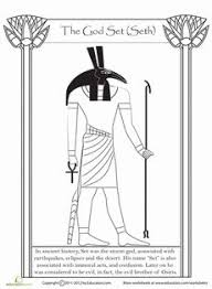 12 Different Printable Color Page Information Sheets On The Egyptian Gods And Goddesses