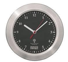 schwarz mebus funk wanduhr aluminium saugnäpfe thermometer