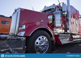 100 Awesome Semi Trucks Bright Red Classic Fancy Big Rig Truck Tractor With Chrome
