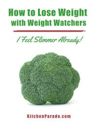 how to lose weight with weight watchers