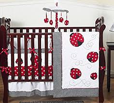 amazon com sweet jojo designs red and white polka dot ladybug