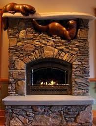 Wood Fireplace Mantel Shelves Designs by Ideas For Fireplace Mantel And Traditional Rock Fireplace Added