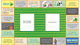 Fit Made Fun Board Game Print And Play This Family That Gets Kids Up Active Players Learn Healthy Habits Earn Tokens For Activities