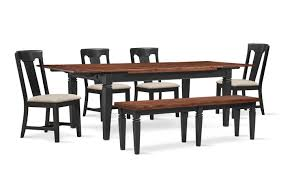 Adler Dining Table 4 Side Chairs And Bench