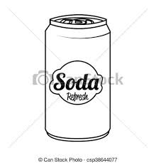Soda Can Isolated Flat Icon Vector Illustration