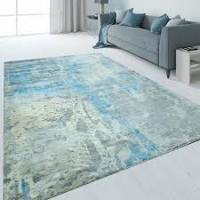 teppiche teppich marmor used look blau möbel wohnen