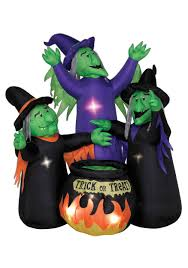 Airblown Inflatables Halloween Decorations by Animated Airblown Three Witches And Cauldron