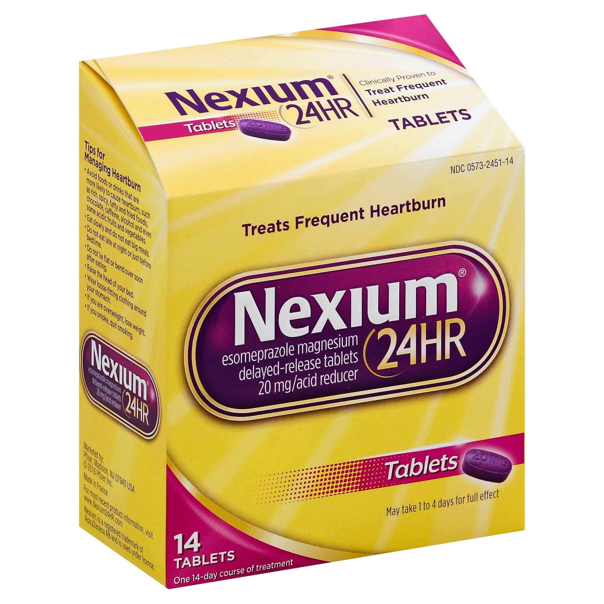 Nexium 24hr Treats Frequent Heartburn Treatment - 14ct