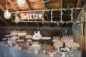 Minnesota Barn Wedding Dessert Table