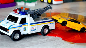 100 Toys 4 Trucks Polic Tow Truck And Police Car For Kids For Kids Tow