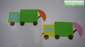 100 Trucks Paper Cutting Garbage Art For Kids How To Make A Paper
