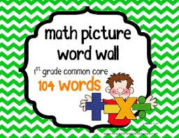 Math First Grade Common Core Vocabulary Cards