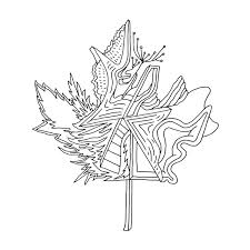 Abstract Line Drawing Page 5944 The Colouring Book Canadian Maple Leaf Canada 150 Free For Adul