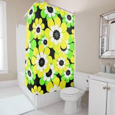 Burgundy Star Bathroom Accessories by Yellow Green Flowers Shower Curtain Bathroom Accessories Home