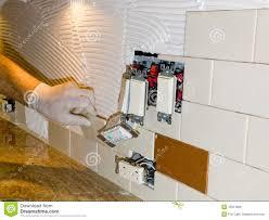 installing backsplash kitchen ceramic tile installation on royalty
