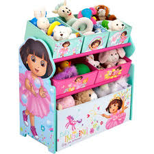 nick jr dora the explorer bedroom set with bonus toy organizer