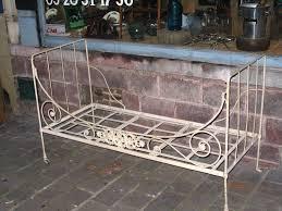 canapé lit ancien mobilier de jardin fer forgé ancien luxe antiquites belbezier â
