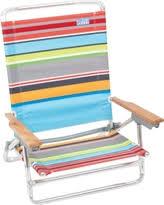 amazing deal on nautica 5 position beach chair in rainbow multi