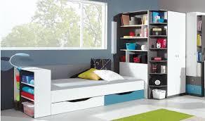 rangement chambre ado vente lit enfant 90x200 moderne avec deux tiroirs de rangement