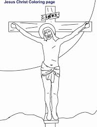 Jesus Christ Carrying The Cross Coloring Page Color Online Print