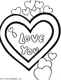Valentine Day Coloring Pages Printable Free