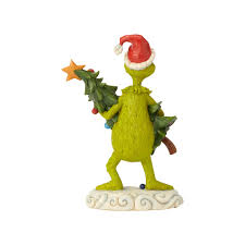 Jim Shore Grinch Stealing Christmas Tree Figurine New With Box