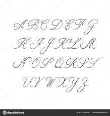 Calligraphy Alphabet Decorative Handwritten Brush Font Vector Letters Wedding ABC For