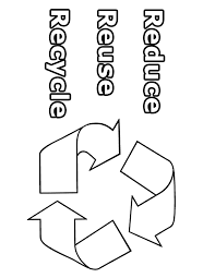 Reduce Reuse Recycle Coloring Pages