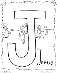 Jesus Coloring Page J Is For Free Kids