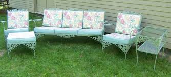 Meadowcraft Patio Furniture Cushions by Vintage Meadowcraft Wrought Iron Patio Furniture Iron Patio