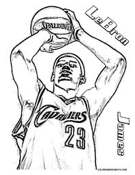 Nba Player Coloring Sheets Basketball Pictures Big Boss Players Free Pages Printable Team Logos Full