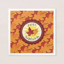 Fall Colors Happy Thanksgiving Napkin