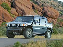100 H2 Truck 2005 Hummer Sport Utility SUT Front Angle Red Rocks