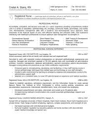 Graduate Nurse Resume Examples Template With Registered USC EYE Institute Professional Nursing Experience