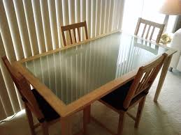 Kitchen Table Top Decorating Ideas by Wood Dining Table With Glass Top Bibliafull Com