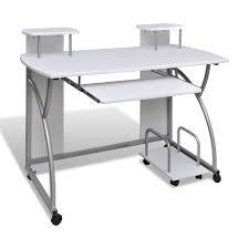 bureau ordinateur blanc bureau informatique et étagères blanc