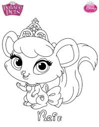 Amazing Coloring Disney Pages Palace Pets About Kids N Fun