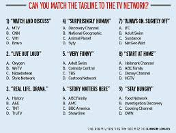 CAN YOU MATCH THE TAGLINE TO TV NETWORK