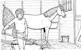 Kids Coloring Pages Horses Page Of Horse Jumping Realistic