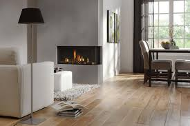 Add Stunning Fireplace To Complete Grey Living Room Wth White Sofa And Black Shaded Floor Lamp