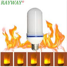 rayway led effect light bulb e27 7w led simulated flickering