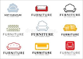 Download Set Logo Badge Emblem And Elements For Furniture Store Stock Vector