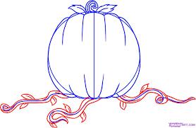 how to draw a pumpkin step 4