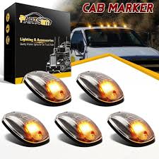 5x264146CL Amber LED Cab Roof Marker Running Lights Clear Lens For ... 25 Oval Truck Led Front Side Rear Marker Lights Trailer Amber 10 Xprite 7 Inch Round Super Bright 120w G1 Cree Projector 4 Rectangular Lamp Light For Bus Boat Rv 12 Clearance Speedtech 12v 3 Indicators 4pcs In 1ea Of An Arrow B52 55101 Amber Marker Lights Parts World Vms 0309 Dodge Ram 3500 Bed Side Fender Dually Marker Lights 1pc Red Car Led Truck 24v Turn Signal 2018 24v 12v For Lorry Trucks 200914 F150 Front F150ledscom Tips To Modify Vehicle With Tedxumkc Decoration