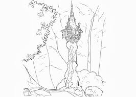 Rapunzel Tower Coloring Pages Tangled