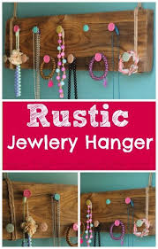 DIY Rustic Jewelry Hanger